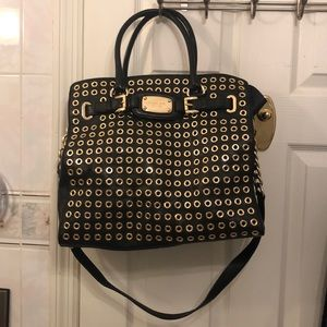 Michael Kors Gold Eyelet Bag